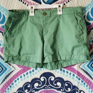 Old Navy Midrise Everyday Green Shorts